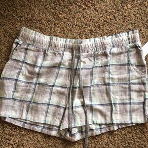 NWT  Flannel pj shorts Xl
